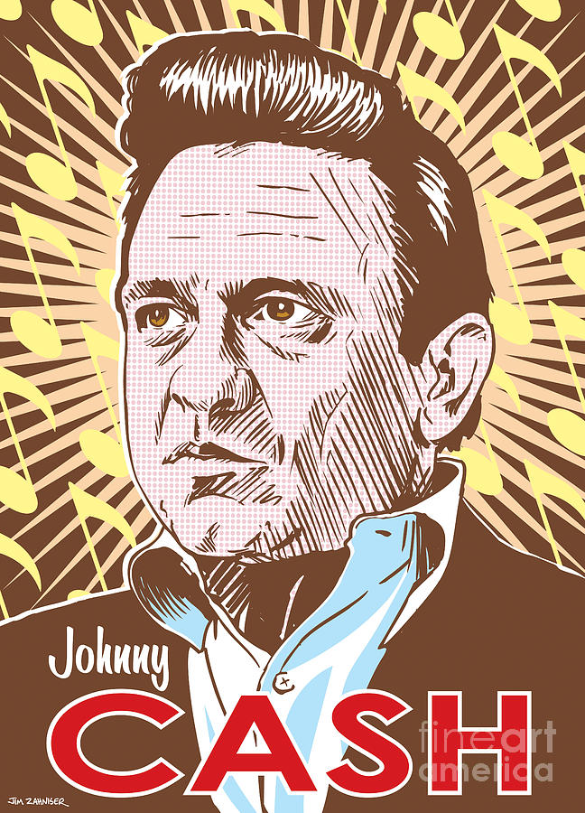 Johnny Cash Pop Art Digital Art
