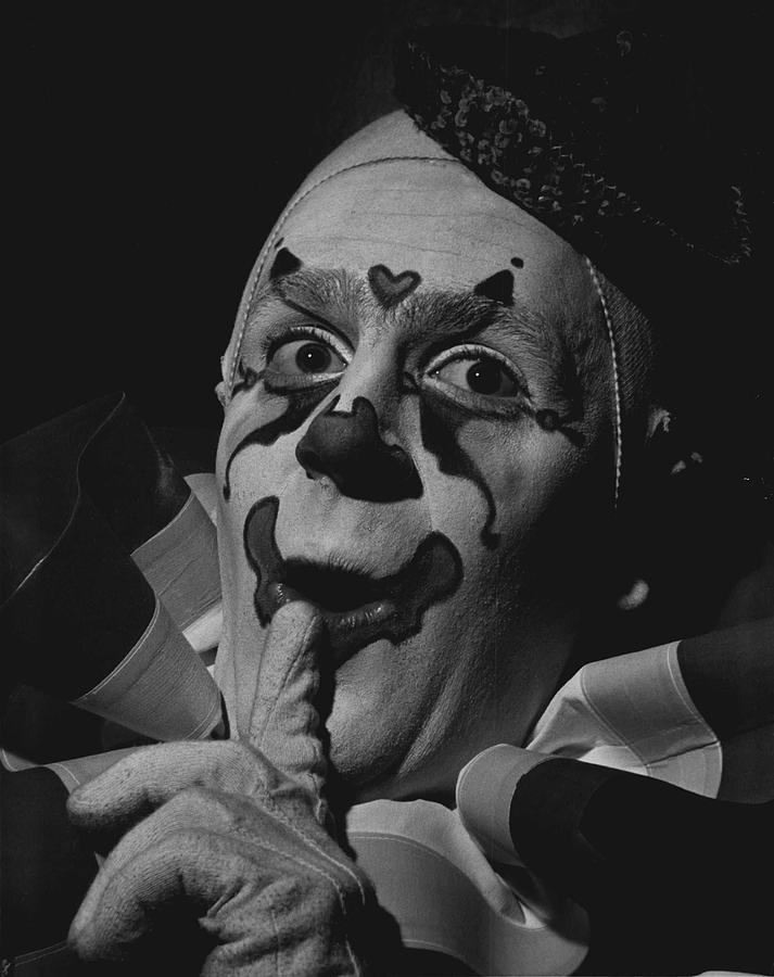Clown Photograph - Just Between Us by Retro Images Archive