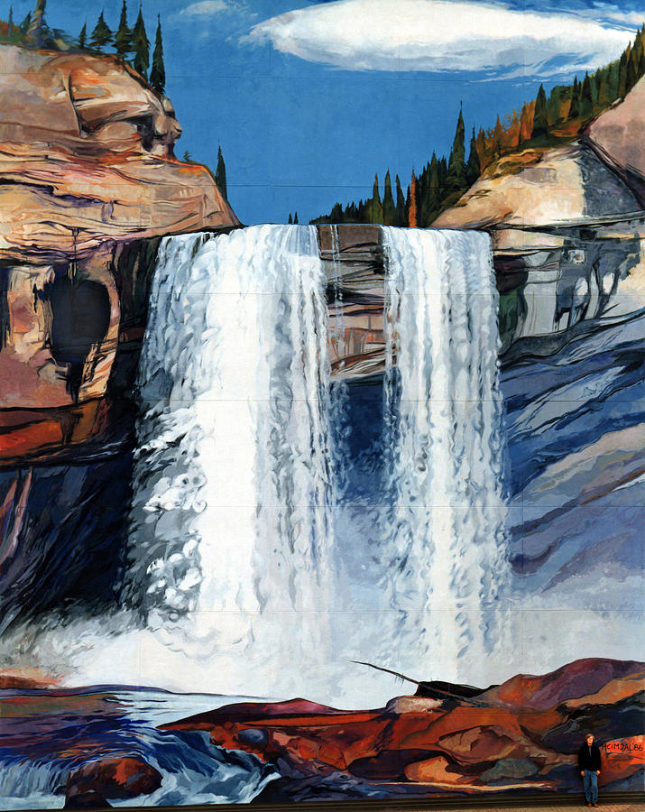 Kakwa falls mural painting by tim heimdal for Average cost of mural painting