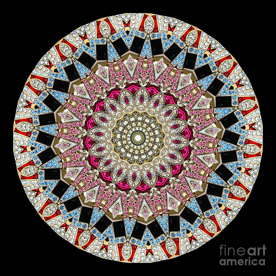Kaleidoscope Colorful Jeweled Rhinestones Photograph