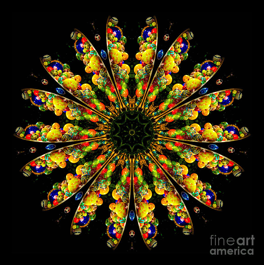Kaleidoscope Of Blown Glass Photograph