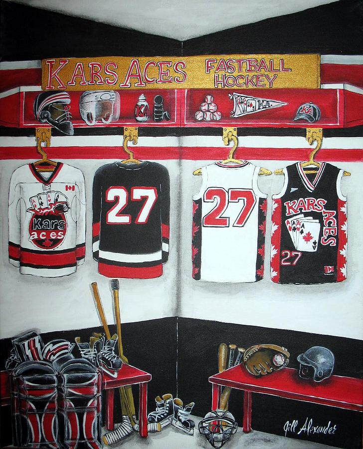 Hockey Painting - Kars Aces by Jill Alexander