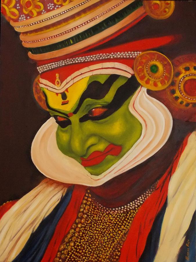 Kathakali Canvas Painting