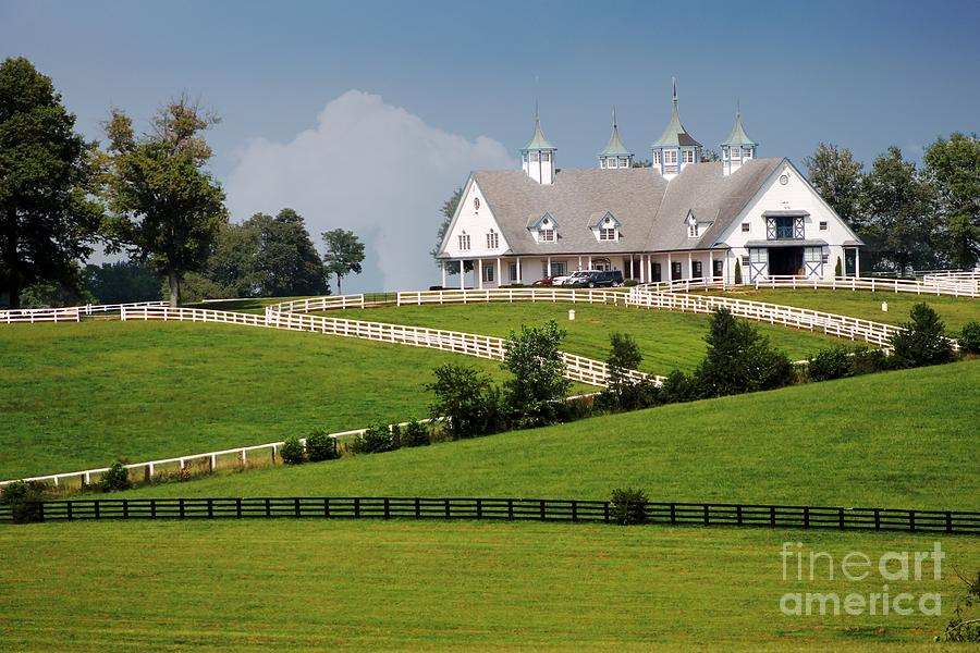 Lexington Photograph - Keeneland Stables by Bruce LaDuke