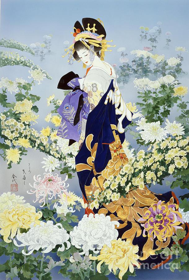 Haruyo Morita Digital Art - Kiku by Haruyo Morita