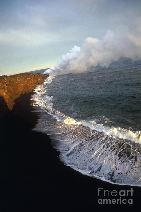 Beach Photograph - Kilauea Volcano, Hawaii by Stephen & Donna OMeara