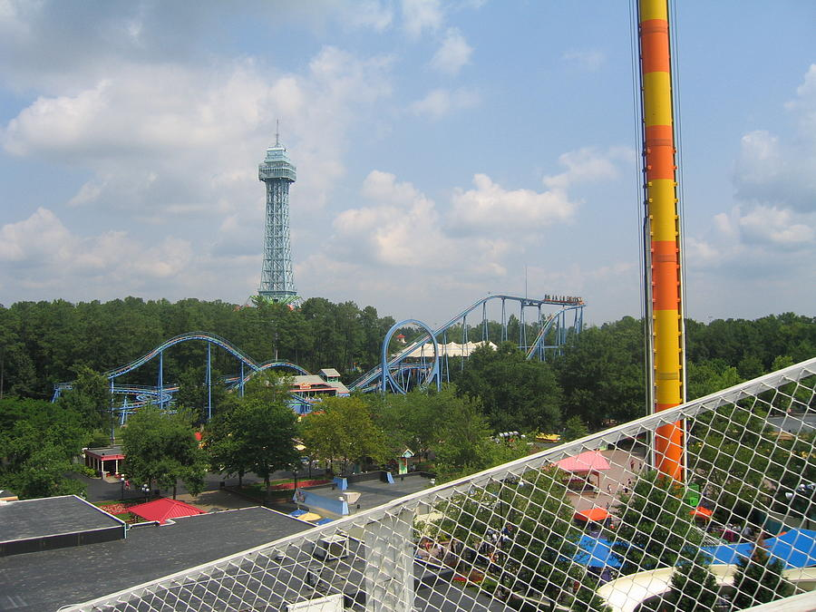 Kings Dominion - Shockwave - 12122 Photograph  - Kings Dominion - Shockwave - 12122 Fine Art Print