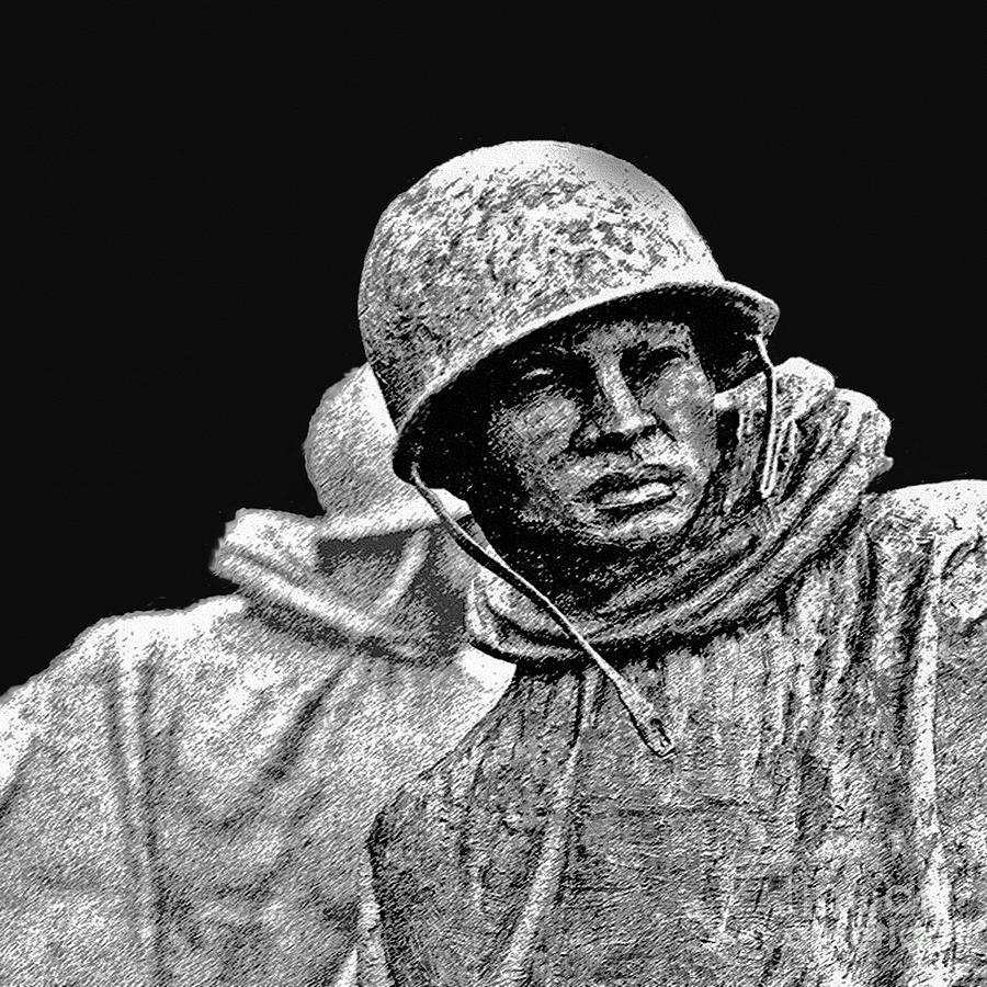 Korean War Veterans Memorial Painting  - Korean War Veterans Memorial Fine Art Print
