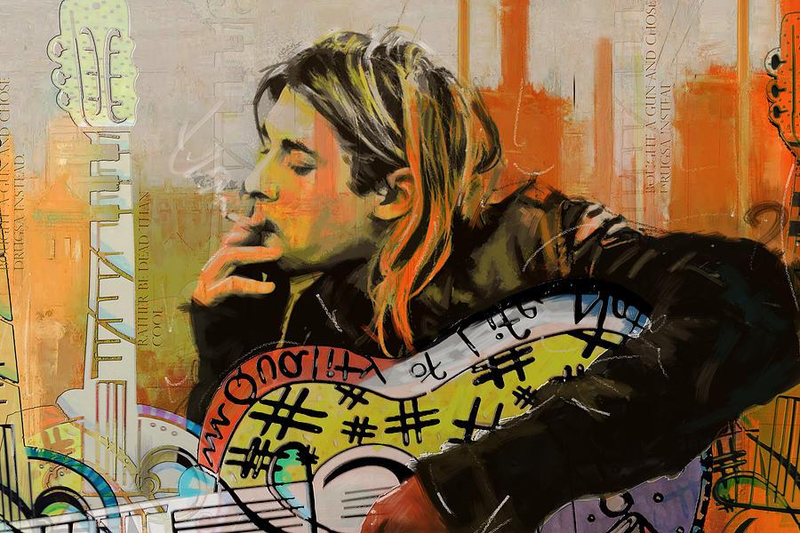 Nirvana Painting - Kurt Cobain by Corporate Art Task Force