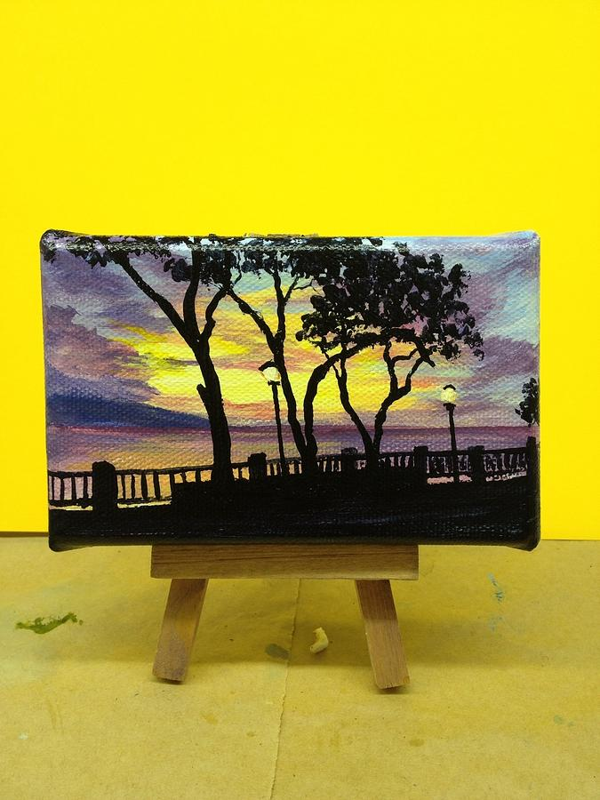 Miniature Painting Painting - Lahaina Sunset by Darice Machel McGuire