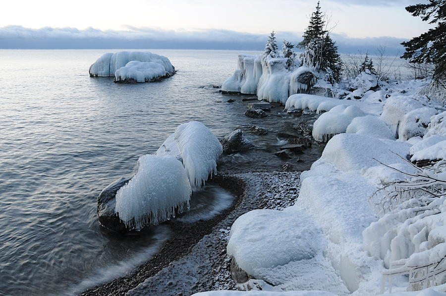 Lake Superior Blues Photograph