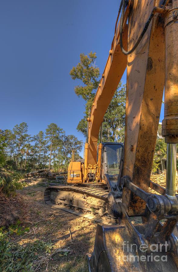 Cat Excavator Photograph