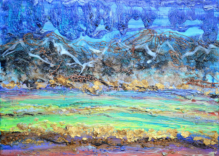Landscape Painting - Landscape Layers by Regina Valluzzi
