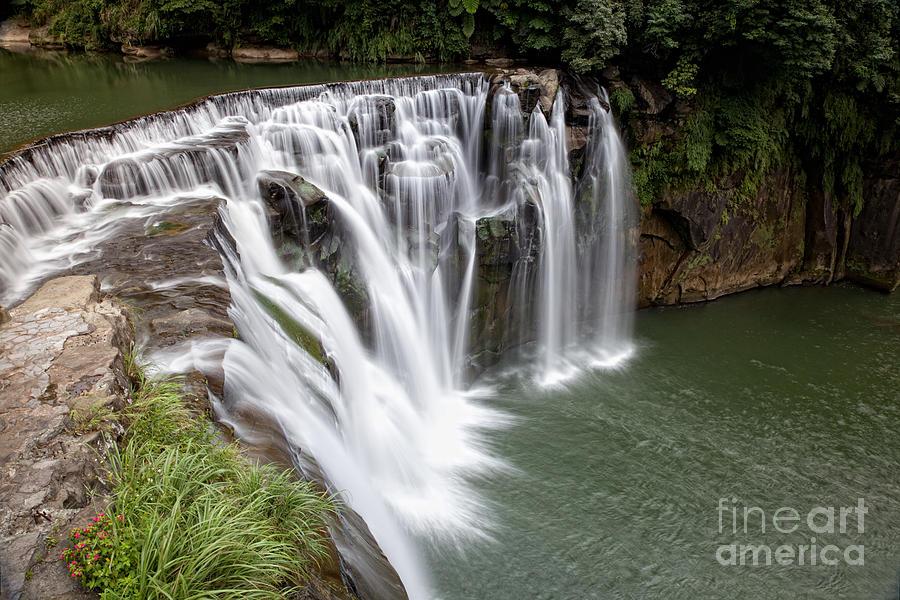 Landscape Shifen Waterfall In Taiwan Photograph