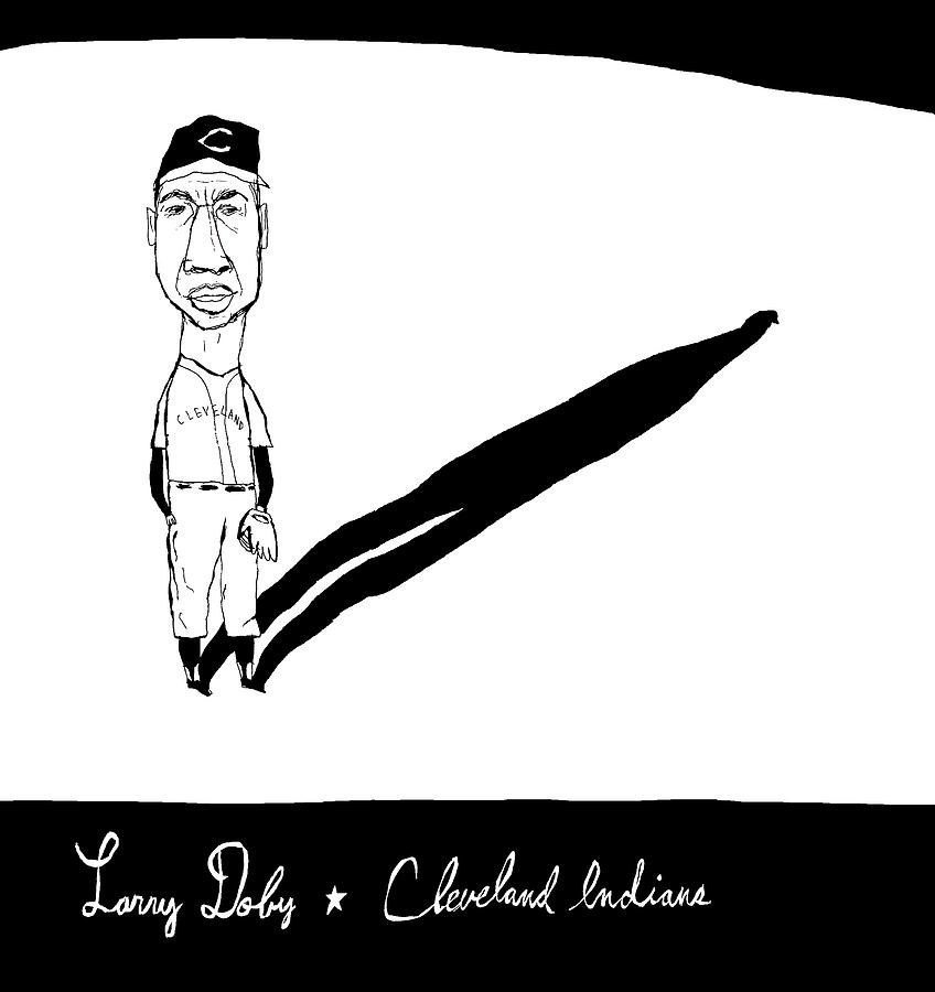 Larry Doby Cleveland Indians Drawing