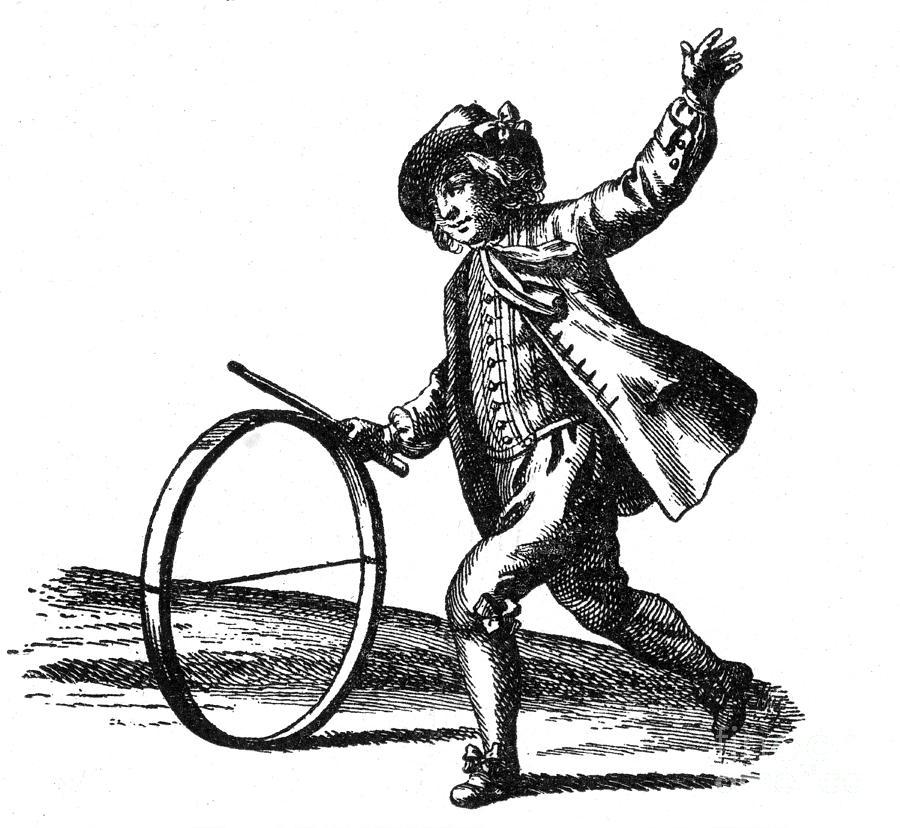 Le Jeu Du Cerceau, Hoop Rolling, 18th Photograph
