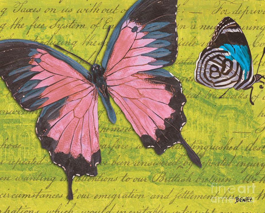 Le Papillon 2 Mixed Media  - Le Papillon 2 Fine Art Print