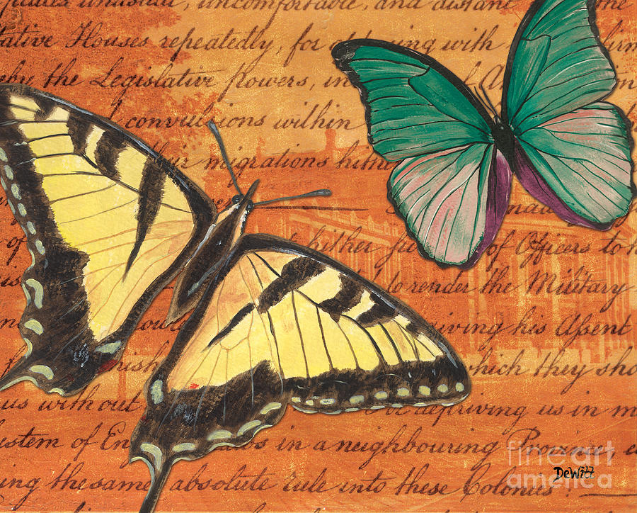 Le Papillon 3 Mixed Media  - Le Papillon 3 Fine Art Print
