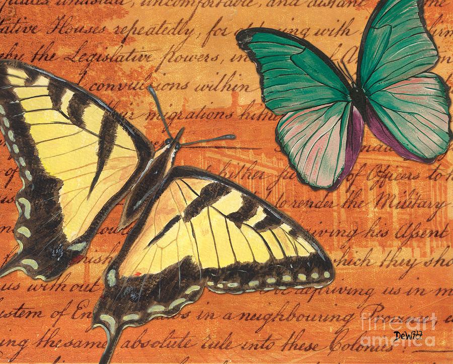 Butterfly Mixed Media - Le Papillon 3 by Debbie DeWitt