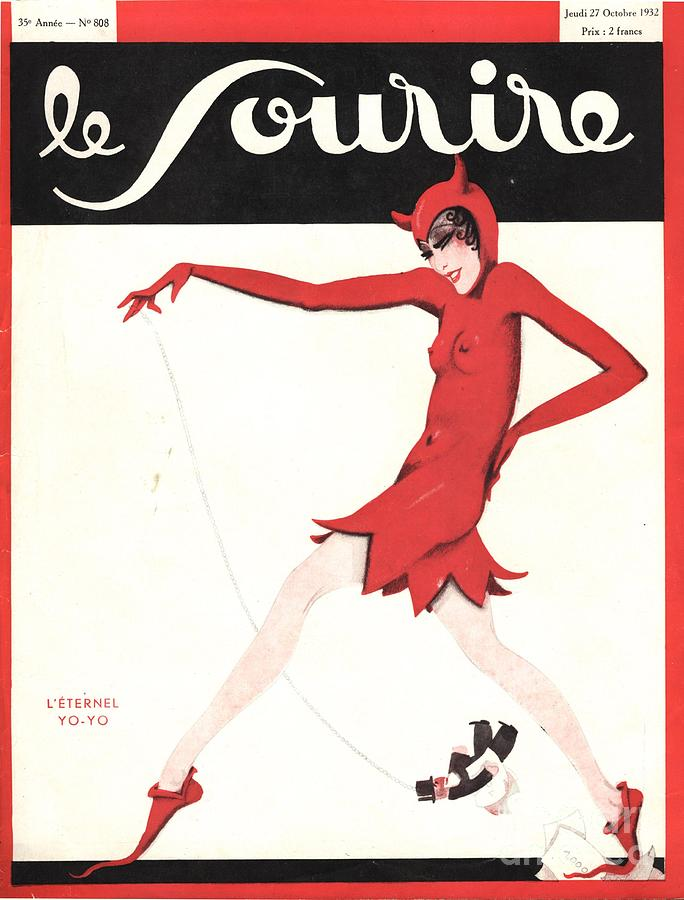Le Sourire 1930s  France Glamour Drawing