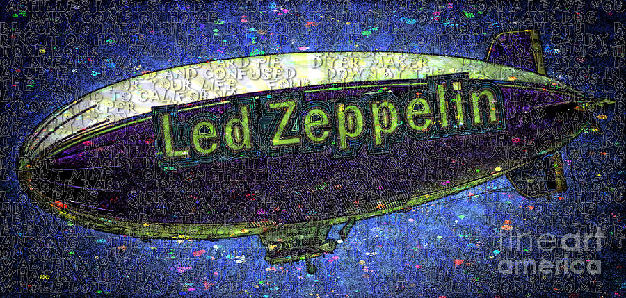 Songs Led Zeppelin Band Led Zeppelin  Street Art  Album Artwork Rock And Roll Band Iconic Songs Heavy Metal Blues Folk Rock Robert Plant Abstract Led Zeppelin Art Hindenburg Cover Album Artwork Rock And Roll Band Iconic Songs Heavy Metal Blues Folk Rock Robert Plant  Jimmy Page John Paul Jones John Bonham Guitar Drums Abstract Led Zeppelin Art Hindenburg Cover Album Artwork Rock And Roll Band Iconic Songs Heavy Metal Blues Folk Rock Robert Plant  Street Art  Photograph - Led Zeppelin by RJ Aguilar