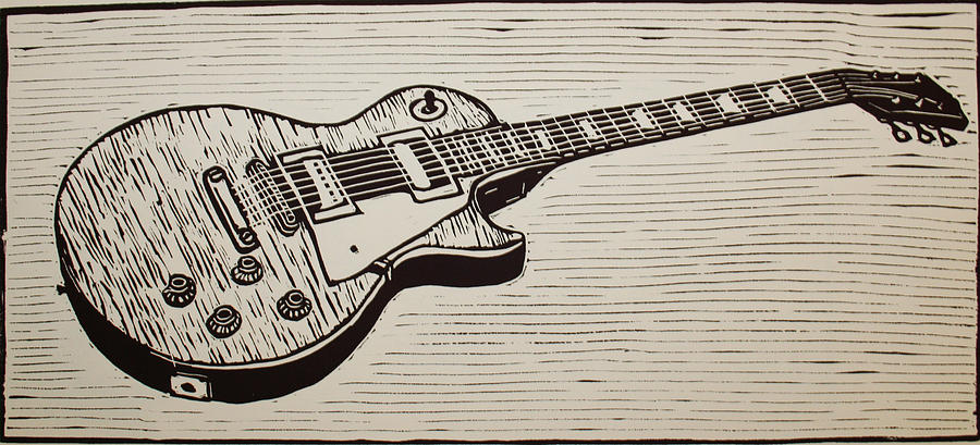 Les Paul Drawing