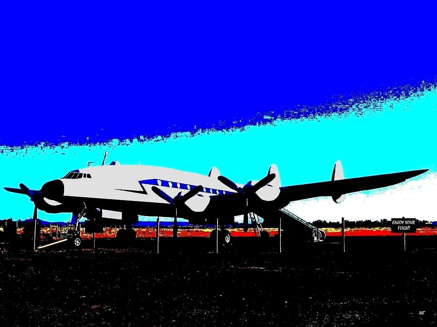 Lockheed Constellation Digital Art