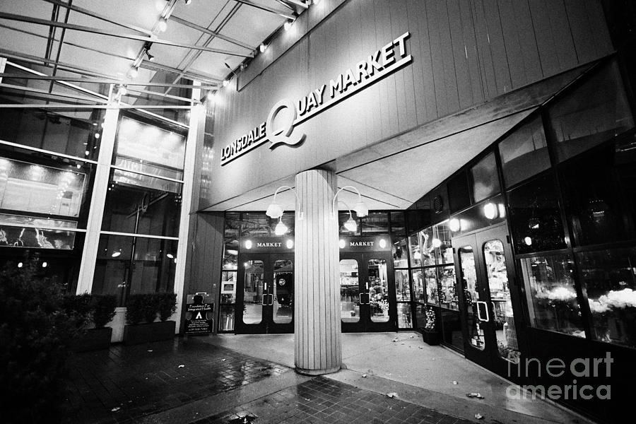 lonsdale quay market shopping mall north Vancouver BC Canada Photograph