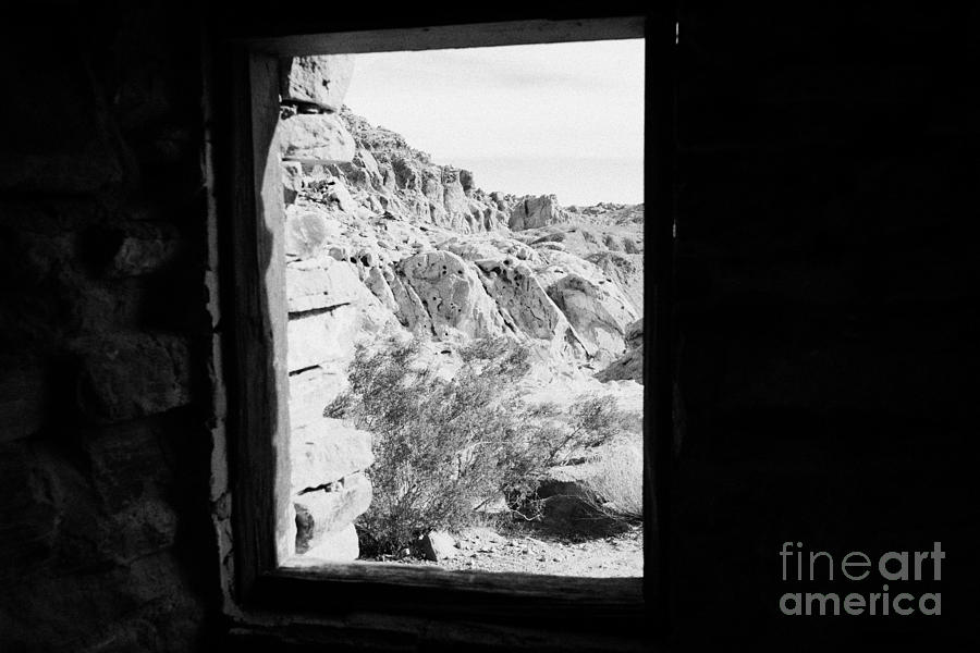 Looking Out Through Window From Interior Of Historic Stone Cabin Built By The Civilian Conservation  Photograph