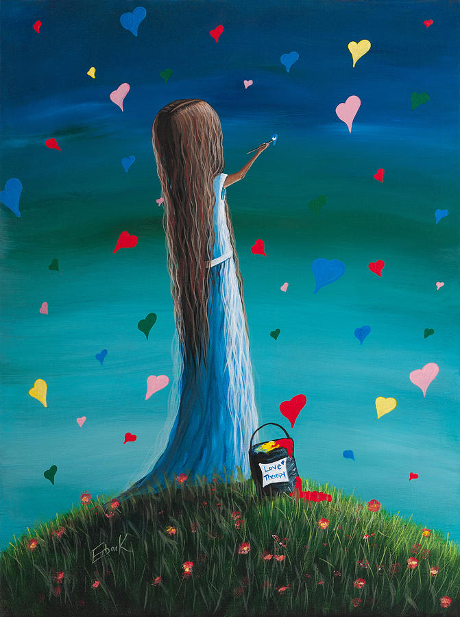 Love Therapy By Shawna Erback Painting  - Love Therapy By Shawna Erback Fine Art Print