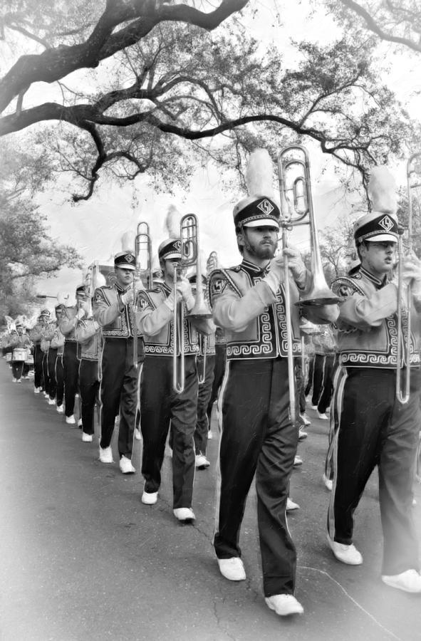 Lsu Marching Band Vignette Photograph  - Lsu Marching Band Vignette Fine Art Print