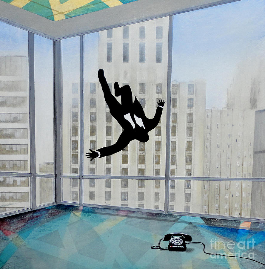 Mad Men Falling Man Painting  - Mad Men Falling Man Fine Art Print