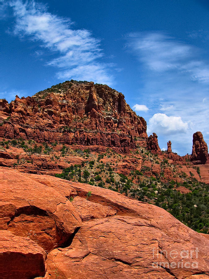 Madonna And Child Two Nuns Rock Formations Sedona Arizona Photograph  - Madonna And Child Two Nuns Rock Formations Sedona Arizona Fine Art Print