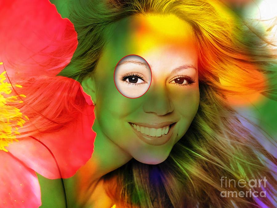 Mariah Carey Mixed Media - Mariah Carey by Marvin Blaine