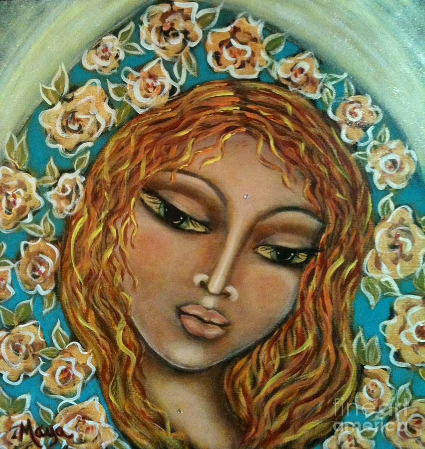 Sacred Art Mixed Media - Mary Mary by Maya Telford