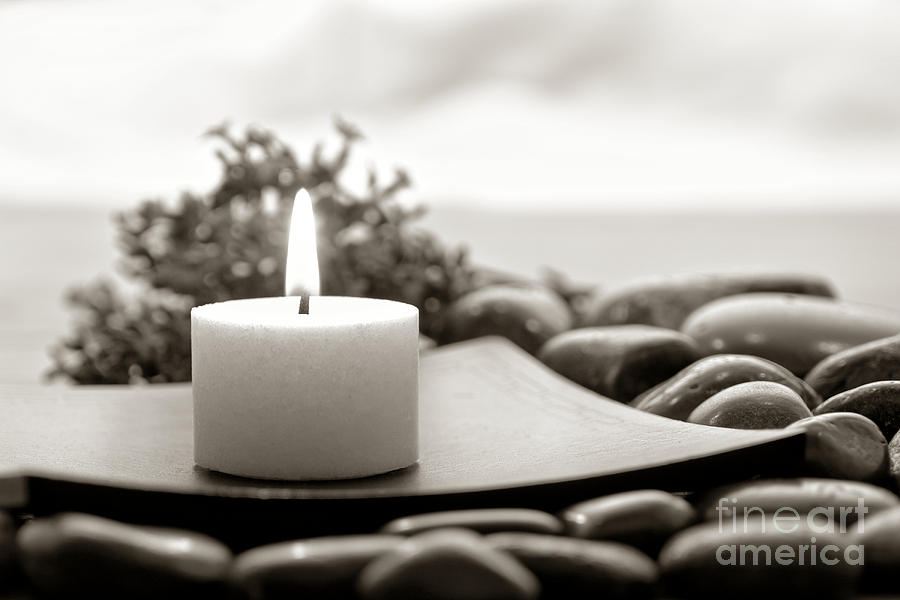 Candle Photograph - Meditation Candle by Olivier Le Queinec