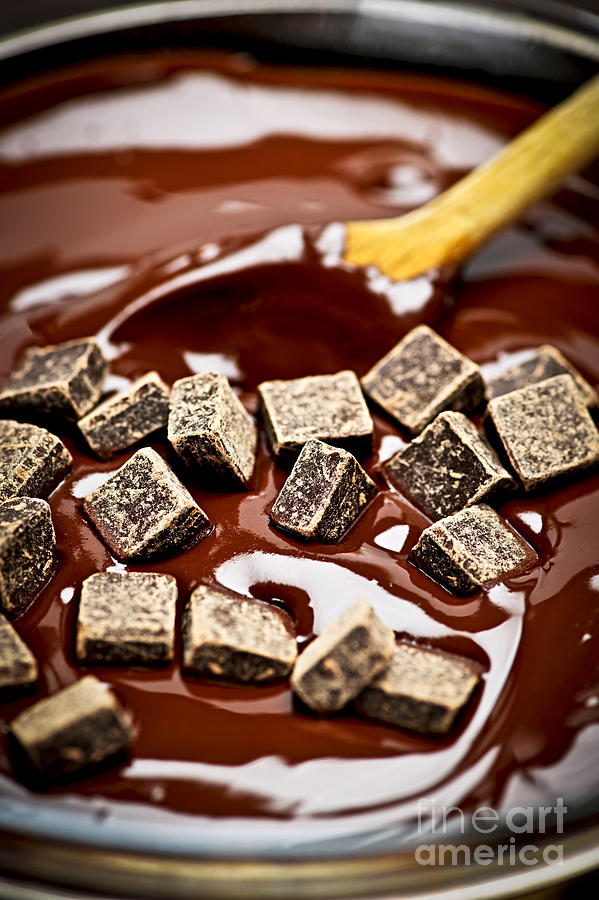 Melting Chocolate Photograph