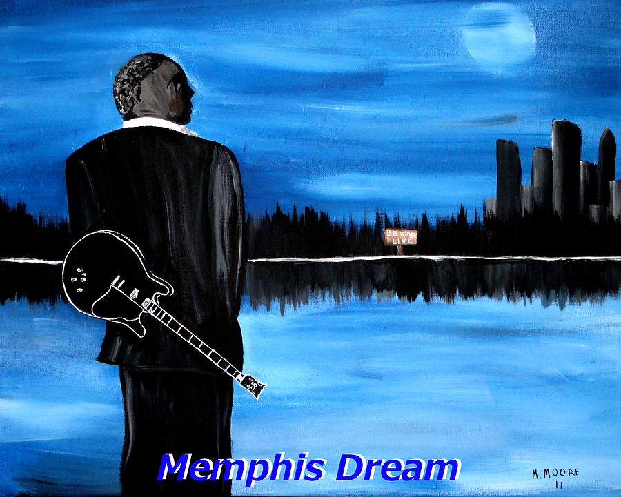 Memphis Dream With B B King Painting  - Memphis Dream With B B King Fine Art Print
