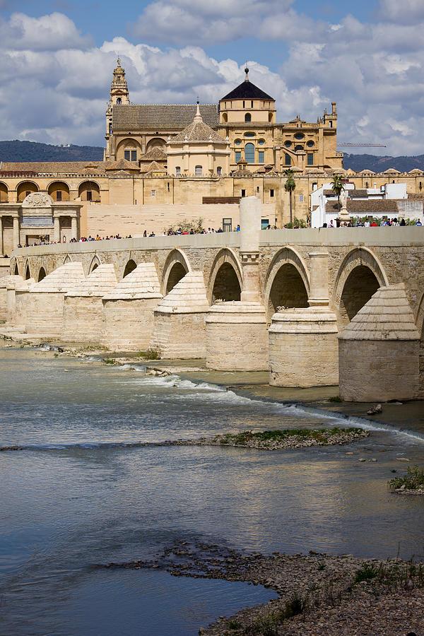 Mezquita And Roman Bridge In Cordoba Photograph