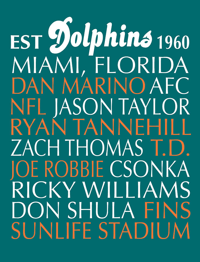 Miami Dolphins Digital Art