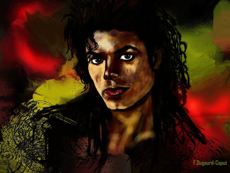 Portriat Digital Art - Michael by Francoise Dugourd-Caput