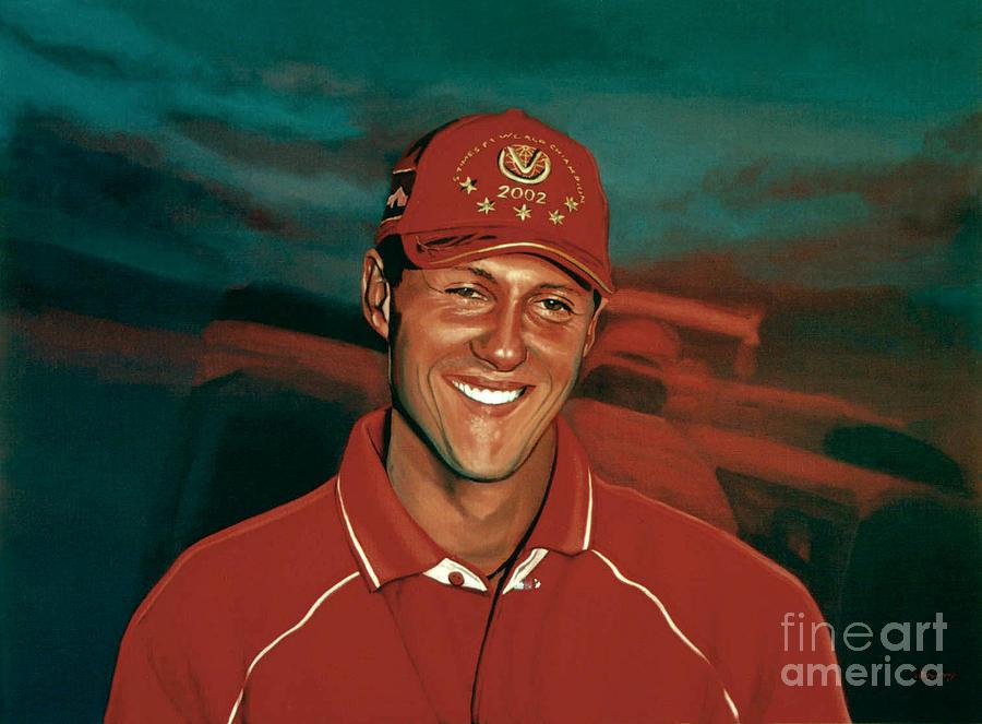 Michael Schumacher Painting - Michael Schumacher by Paul Meijering