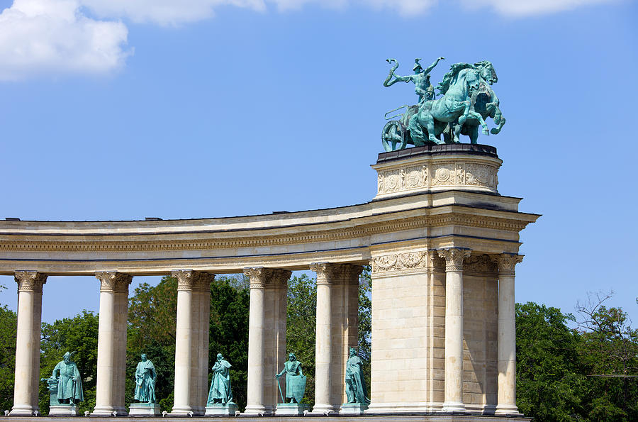 Millennium Monument In Budapest Photograph