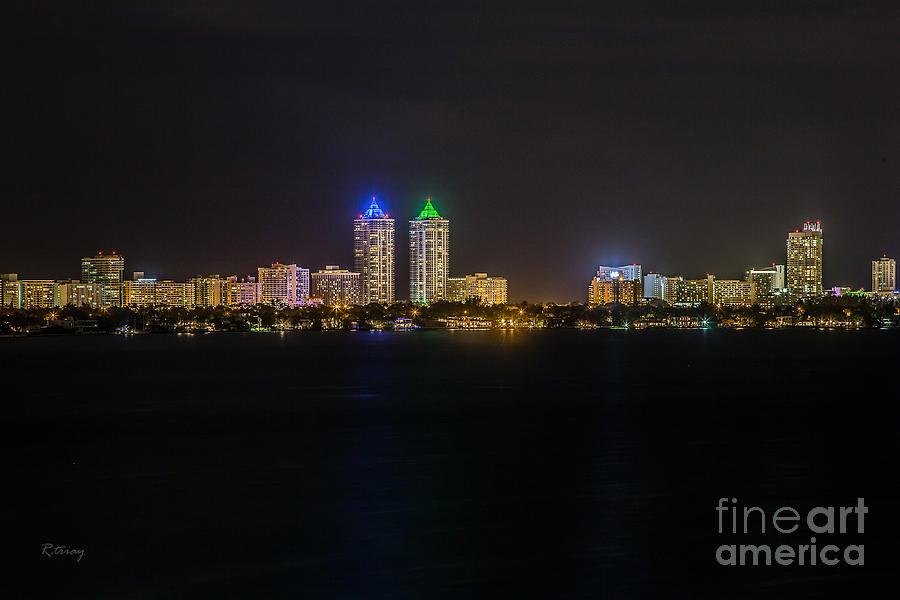 Millionaires Row Miami Beach Skyline Photograph