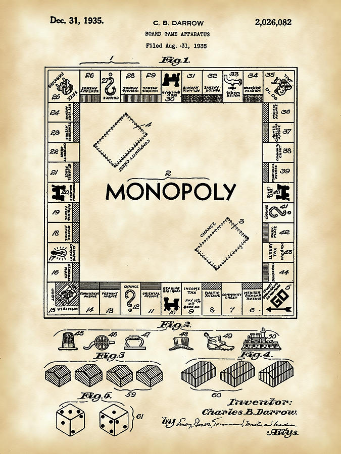 Monopoly Patent Digital Art