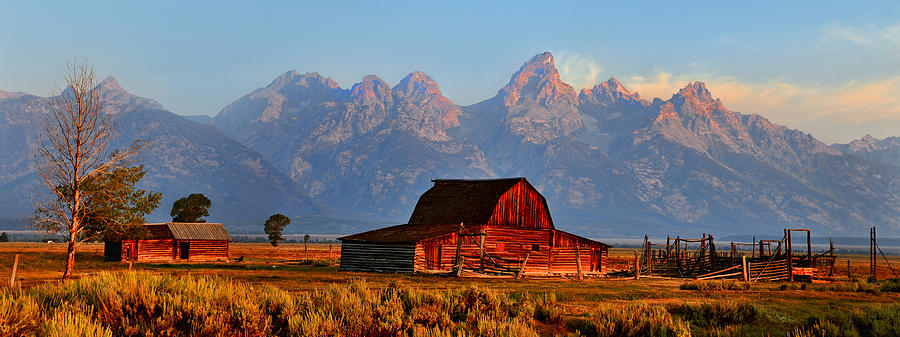 Mormon Row And The Grand Tetons  Photograph
