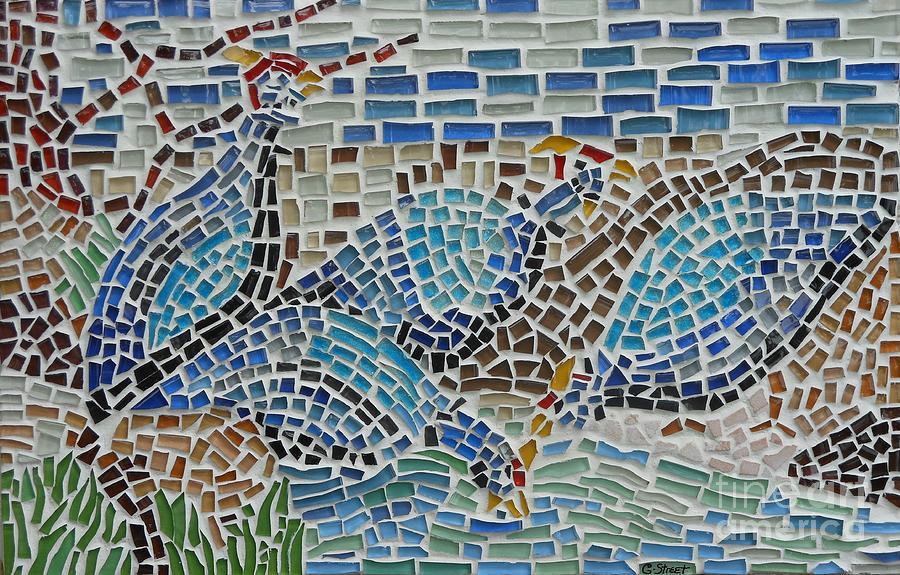 Mosaic Guinea Fowl Painting