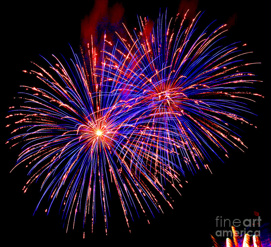 Most Spectacular Fireworks Selection - Worldwide Championship - Montreal Photograph  - Most Spectacular Fireworks Selection - Worldwide Championship - Montreal Fine Art Print