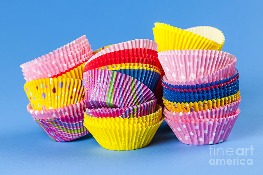 Muffin Photograph - Muffin Cups by Elena Elisseeva