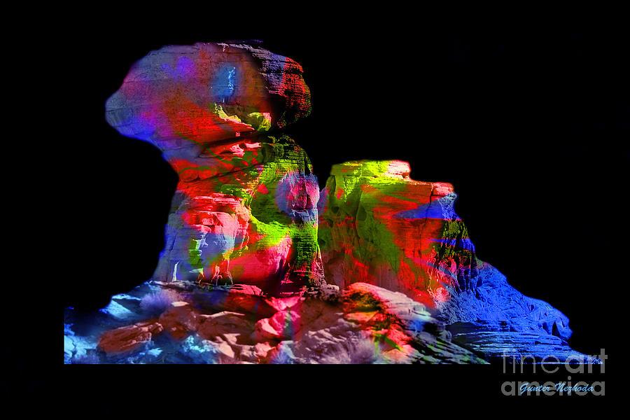 Red Photograph - Mushroom Rock by Gunter Nezhoda